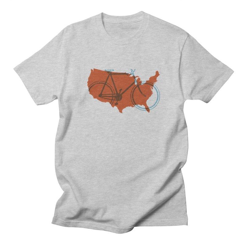 Bike America Men's T-Shirt by landonsheely's Artist Shop