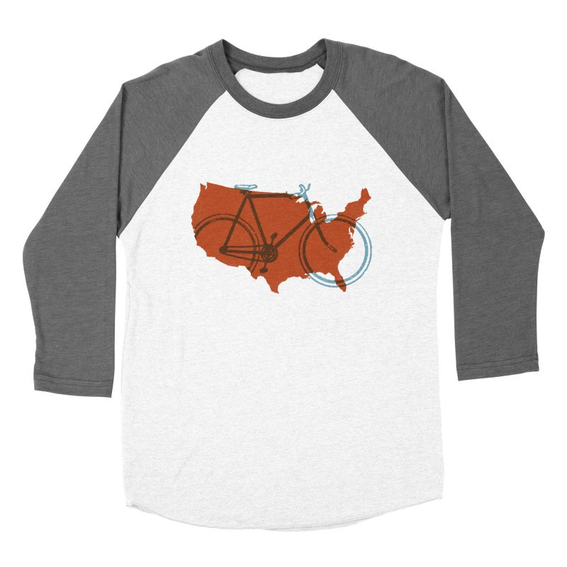 Bike America Women's Baseball Triblend T-Shirt by landonsheely's Artist Shop