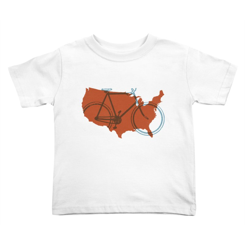 Bike America Kids Toddler T-Shirt by landonsheely's Artist Shop