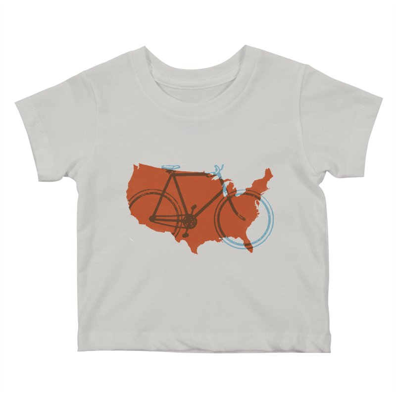 Bike America Kids Baby T-Shirt by landonsheely's Artist Shop