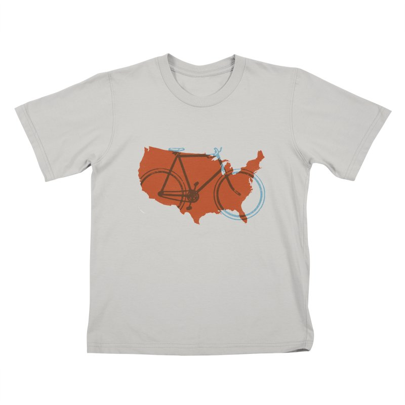 Bike America Kids T-shirt by landonsheely's Artist Shop