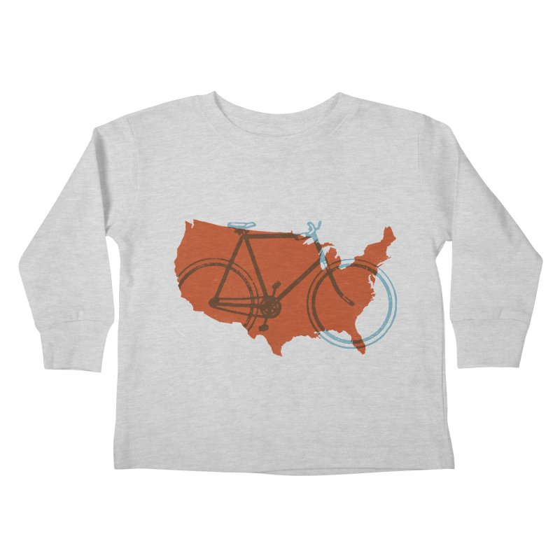 Bike America Kids Toddler Longsleeve T-Shirt by landonsheely's Artist Shop