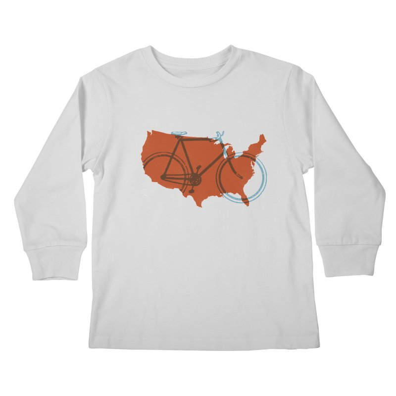 Bike America Kids Longsleeve T-Shirt by landonsheely's Artist Shop
