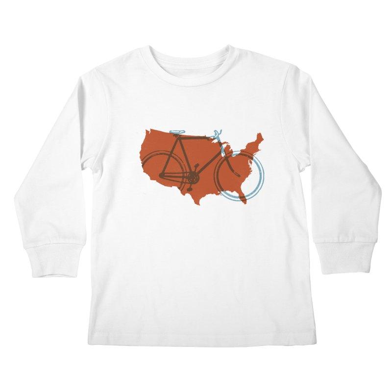 Bike America Kids Longsleeve T-Shirt by landonsheely's Artist Shop