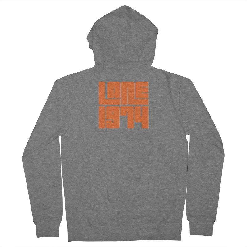 Lane 1974 - Orange  Men's French Terry Zip-Up Hoody by Lane 1974's Shirt Shop