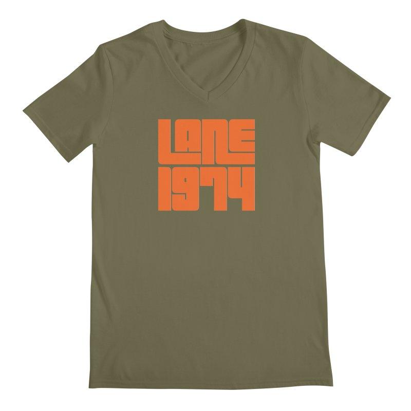 Lane 1974 - Orange  Men's V-Neck by Lane 1974's Shirt Shop