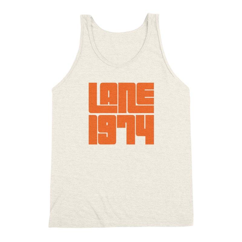 Lane 1974 - Orange  Men's Triblend Tank by Lane 1974's Shirt Shop