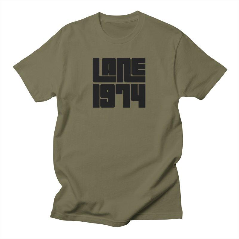 Lane 1974 - Black Men's T-Shirt by Lane 1974's Shirt Shop