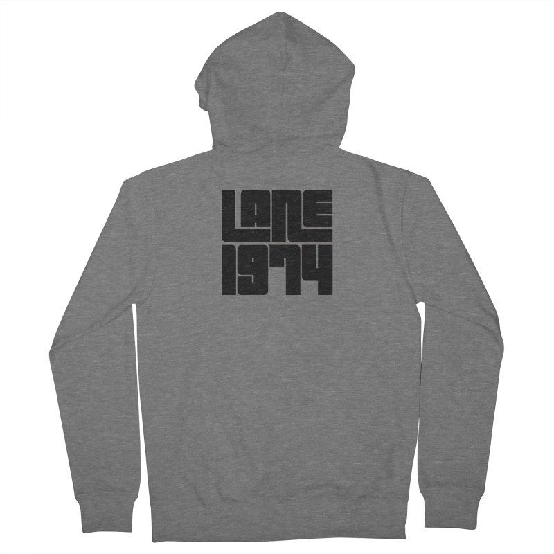 Lane 1974 - Black Men's Zip-Up Hoody by Lane 1974's Shirt Shop