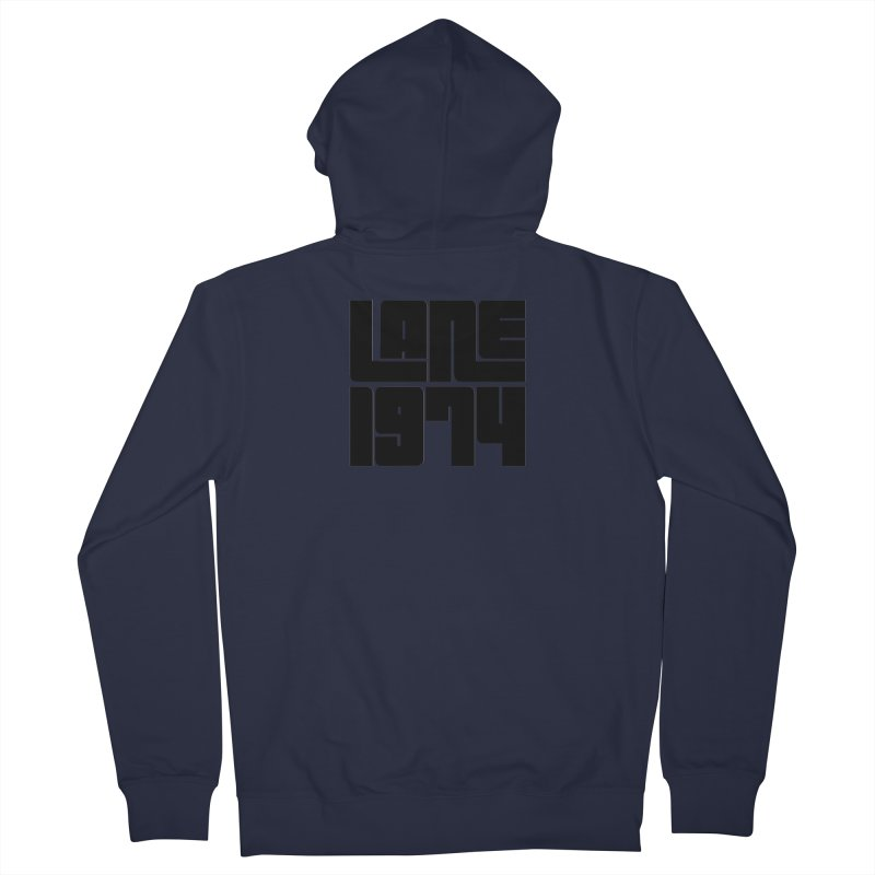Lane 1974 - Black Men's Zip-Up Hoody by Lane 1974's Shirt Shop