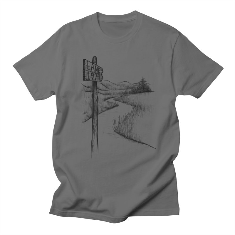 Lane 1974 Sign Post Design Men's T-Shirt by Lane 1974's Shirt Shop