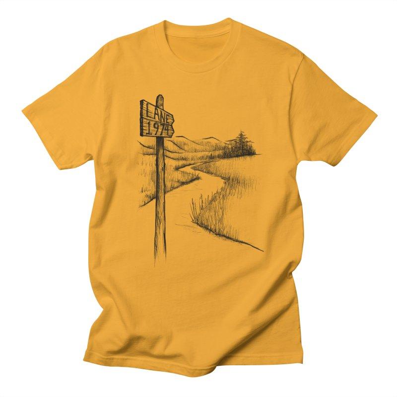 Lane 1974 Sign Post Design Men's T-Shirt by Lane 1974's Shirt Shop