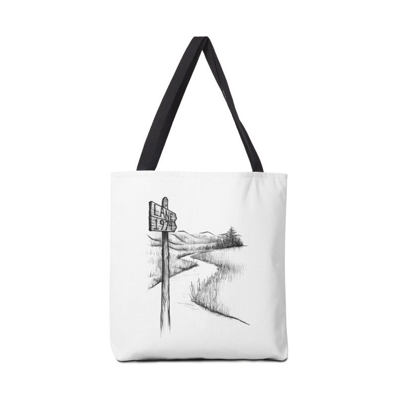 Lane 1974 Sign Post Design Accessories Tote Bag Bag by Lane 1974's Shirt Shop
