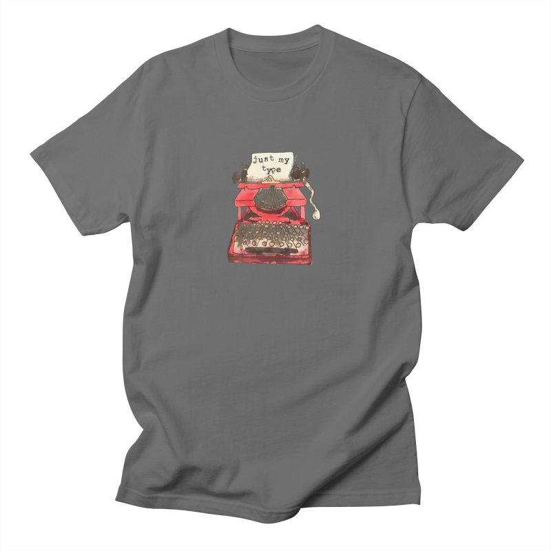 Just My Type Writer Men's T-Shirt by For the love of doodle