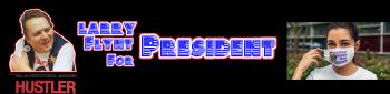 Larry Flynt For President:  HUSTLER® Vintage Tees Logo