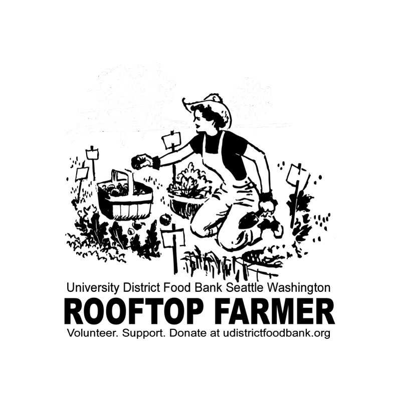 Rooftop Farmer Kids T-Shirt by Last Door on the Left