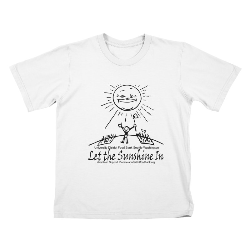 Let the Sunshine In Kids T-Shirt by Last Door on the Left