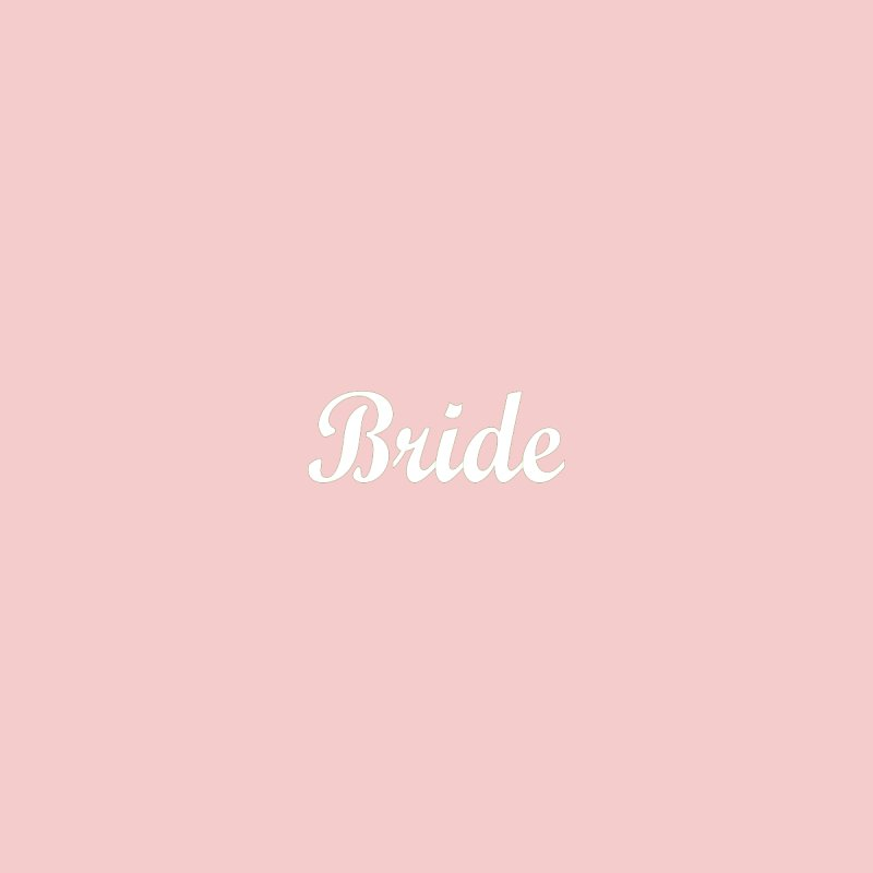 Bride, Pink - Right Side Print Accessories Face Mask by Last Door on the Left