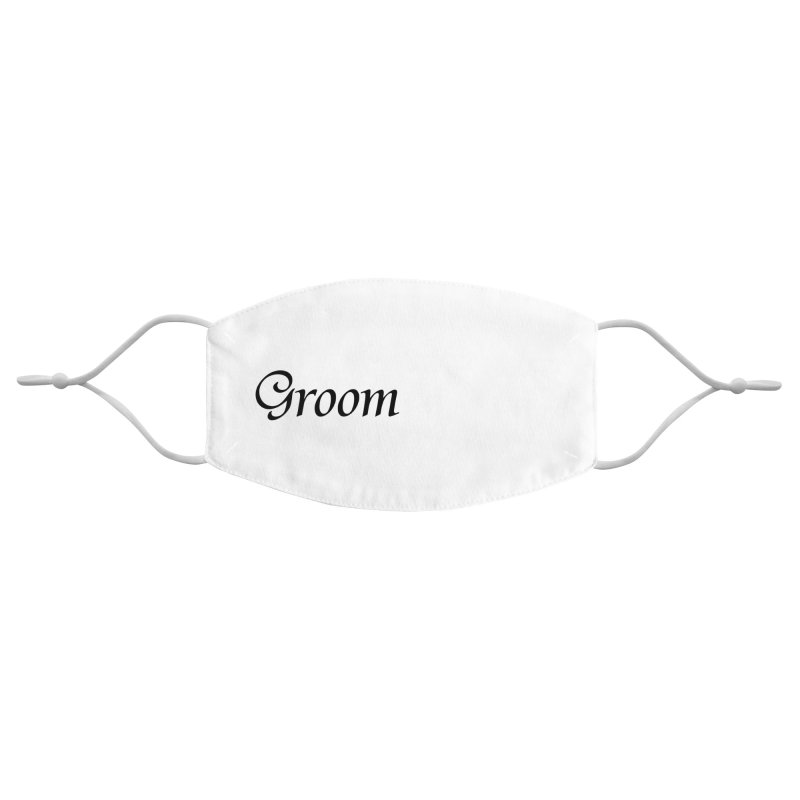Groom, White - Right Side Print Accessories Face Mask by Last Door on the Left