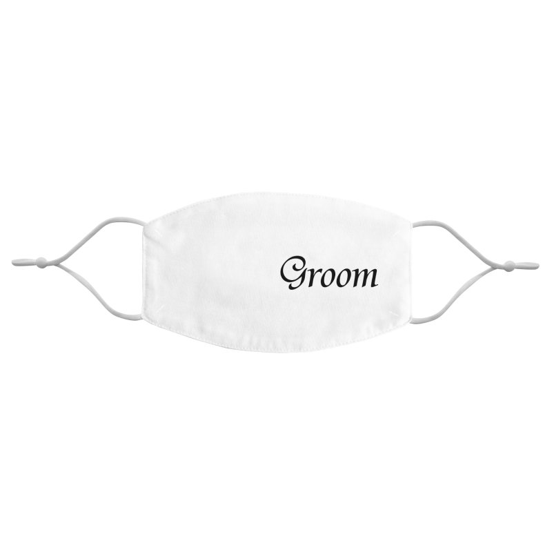 Groom, White - Left Side Print Accessories Face Mask by Last Door on the Left