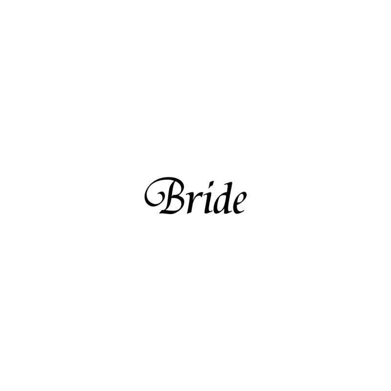 Bride, White - Left Side Print Accessories Face Mask by Last Door on the Left