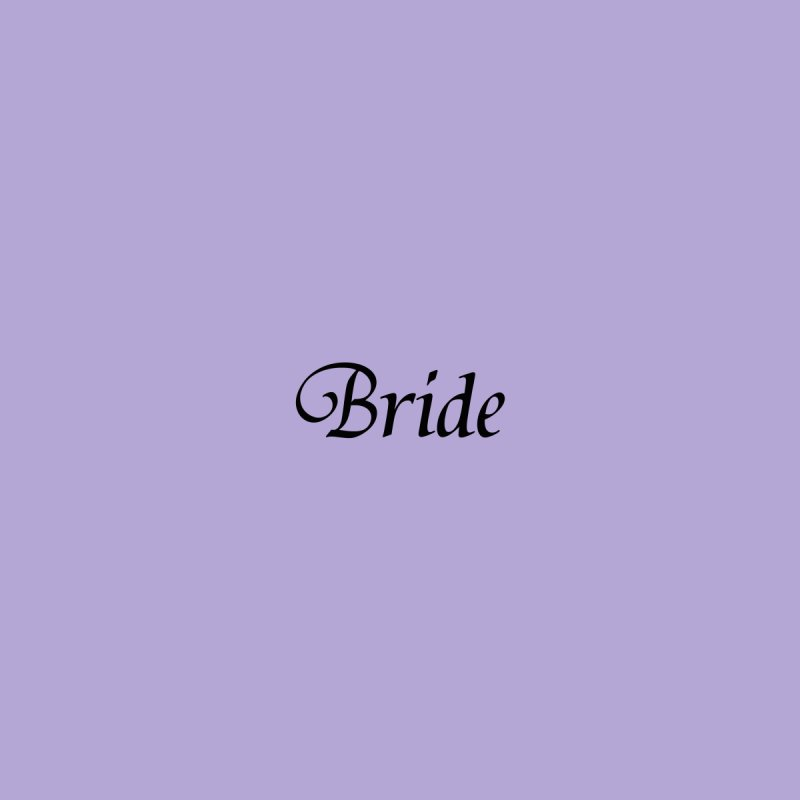 Bride, Lavender - Right Side Print Accessories Face Mask by Last Door on the Left