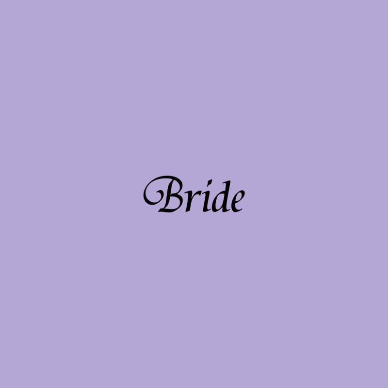 Bride, Lavender - Left Side Print Accessories Face Mask by Last Door on the Left