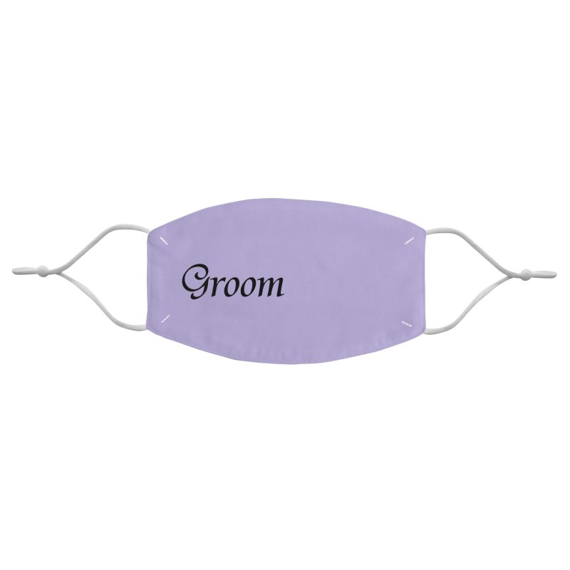 Groom, Lavender - Right Side Print Accessories Face Mask by Last Door on the Left