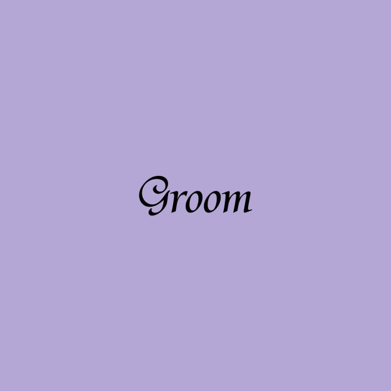 Groom, Lavender - Left Side Print Accessories Face Mask by Last Door on the Left