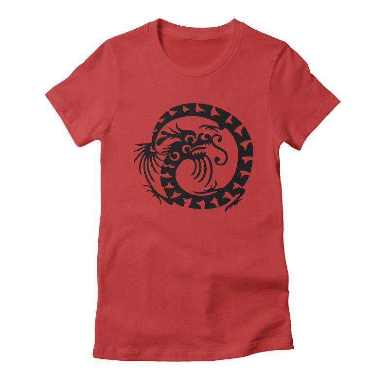 Black Dragon Women's T-Shirt by Last Door on the Left