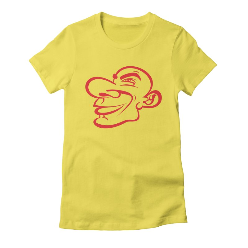 Fred's Head in Red Women's T-Shirt by Last Door on the Left