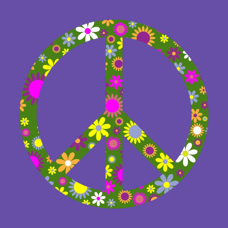 Purple Peace Accessories Face Mask by Last Door on the Left