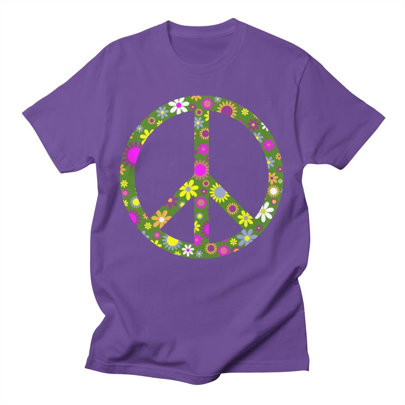 Purple Peace Men's T-Shirt by Last Door on the Left