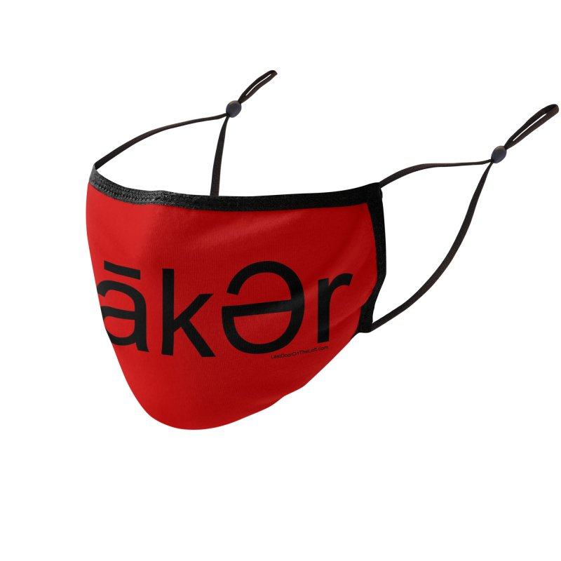 Maker - Black Print Accessories Face Mask by Last Door on the Left