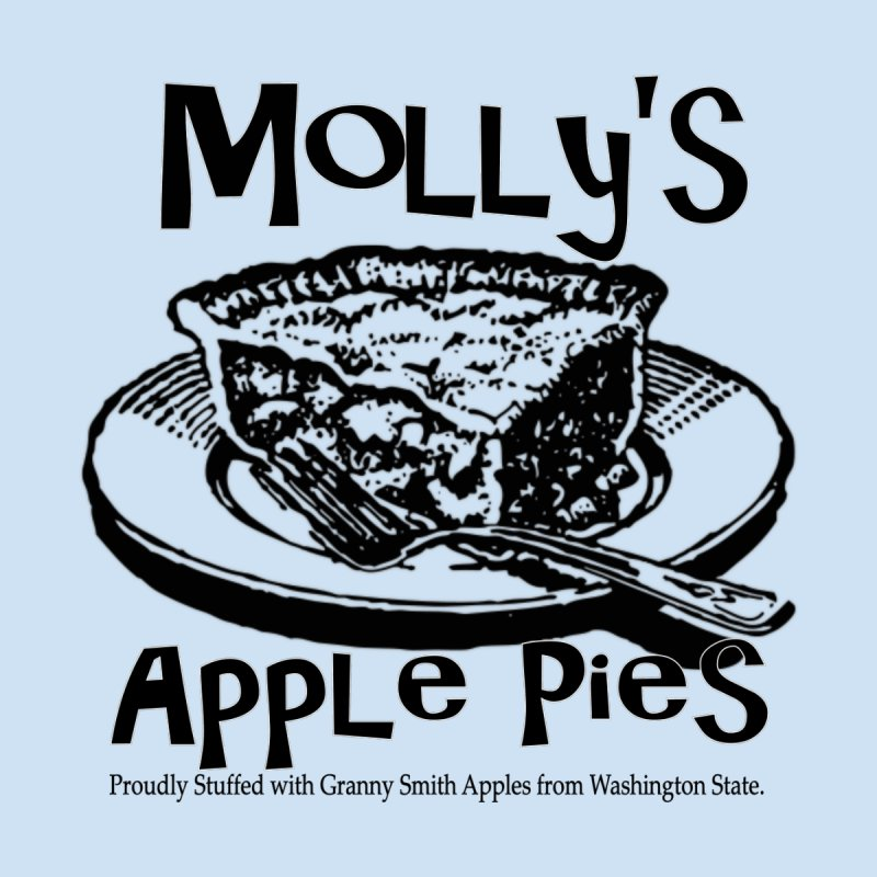 Molly's Apple Pie Men's T-Shirt by Last Door on the Left