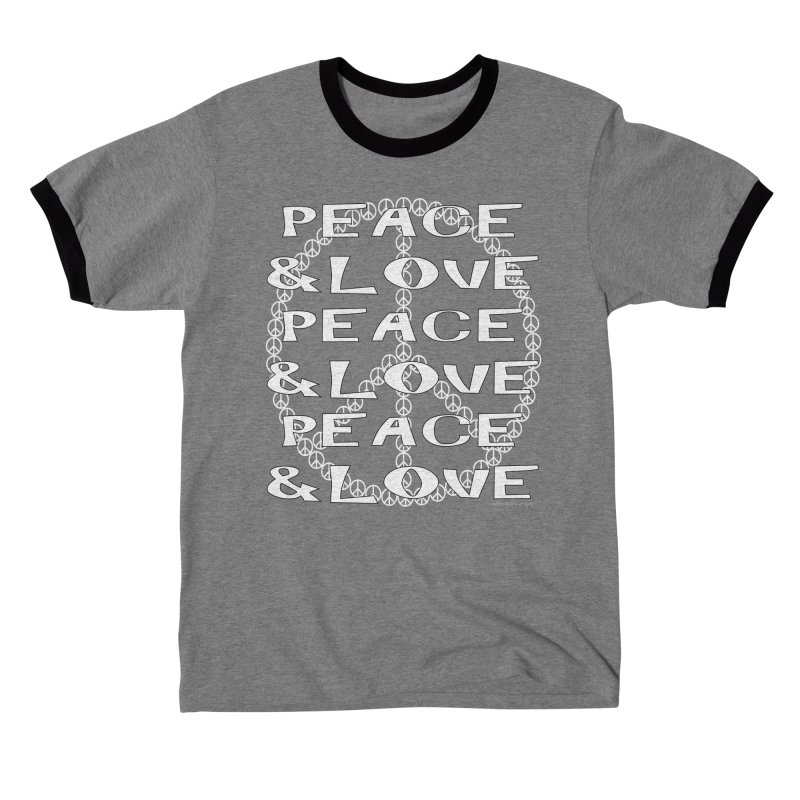 Peace and Love Men's T-Shirt by Last Door on the Left