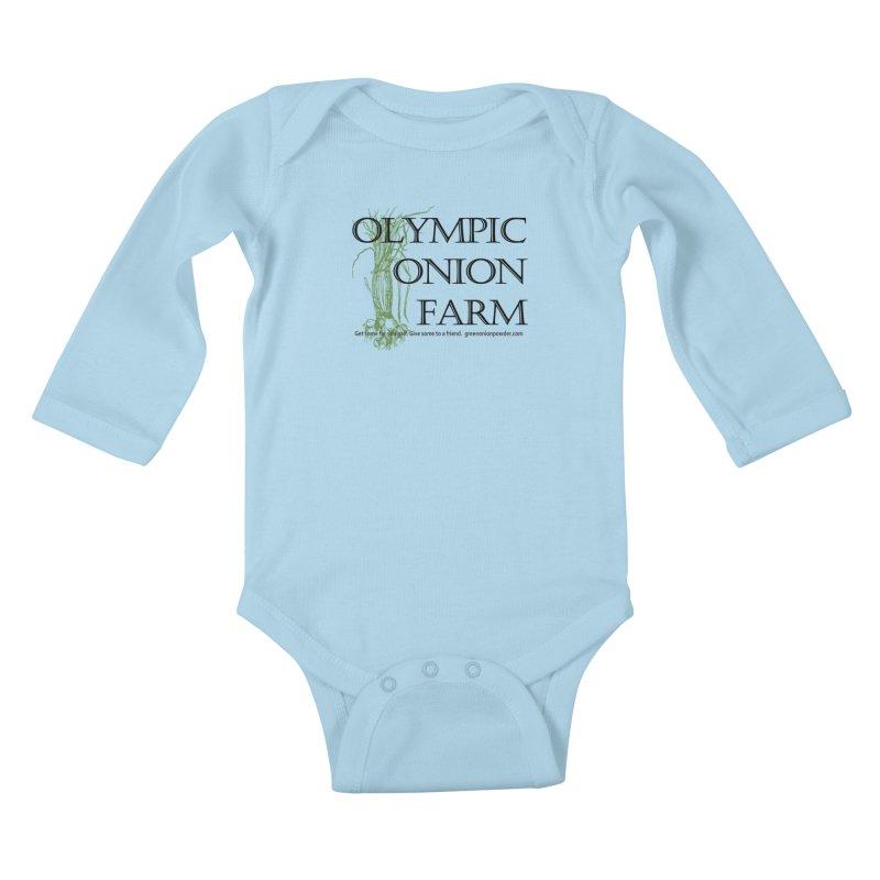 Olympic Onion Farm Kids Baby Longsleeve Bodysuit by Last Door on the Left