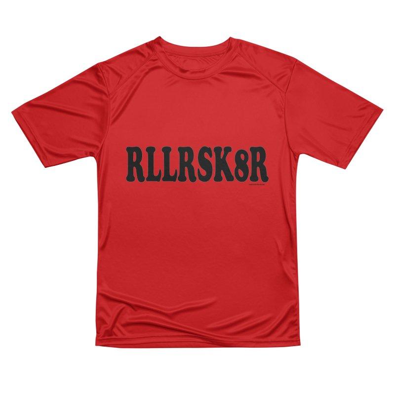 RED RLLRSK8R Men's T-Shirt by Last Door on the Left