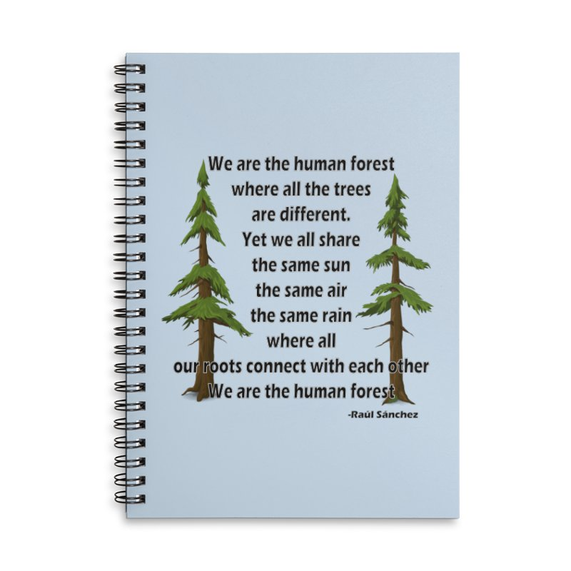 Human Forest Accessories Notebook by Last Door on the Left