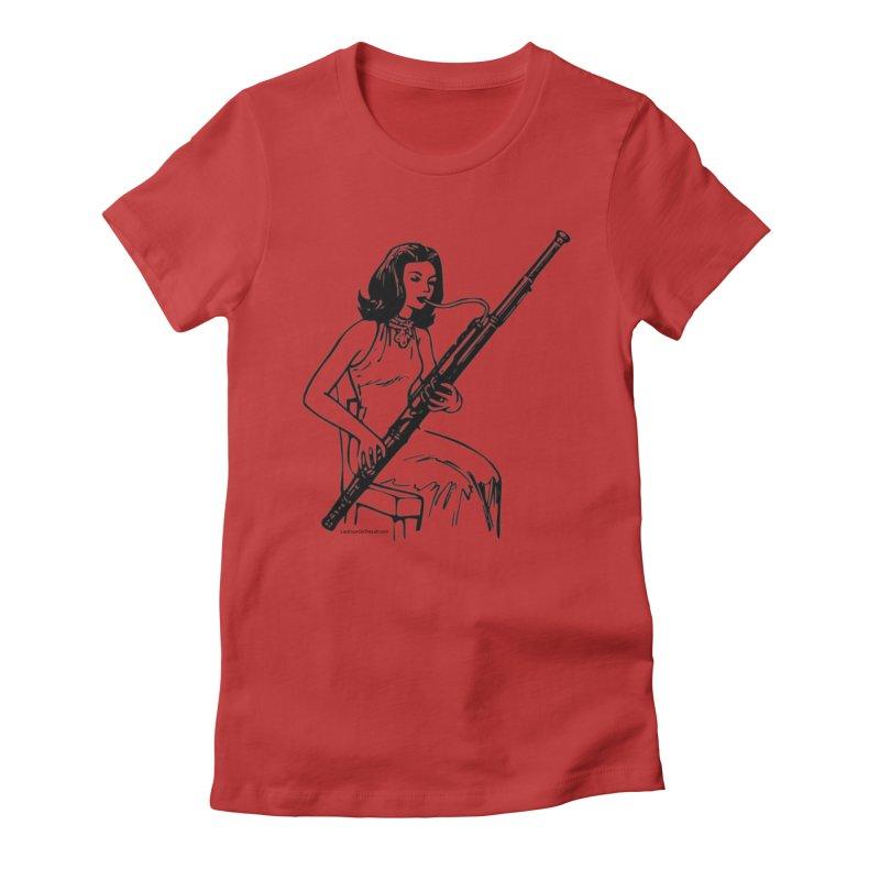 Girls Love Bassoons Women's T-Shirt by Last Door on the Left
