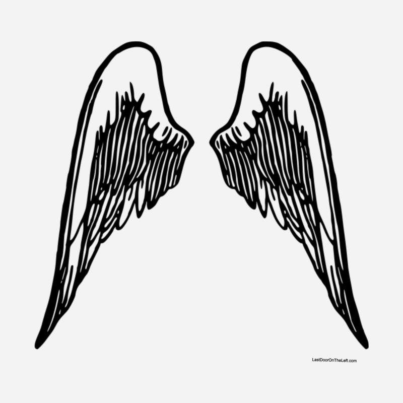 Angel Wings Hoodie Women's Zip-Up Hoody by Last Door on the Left