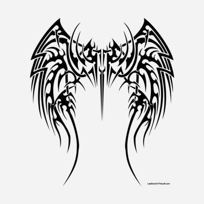 Tribal Wings Back Print Men's Zip-Up Hoody by Last Door on the Left