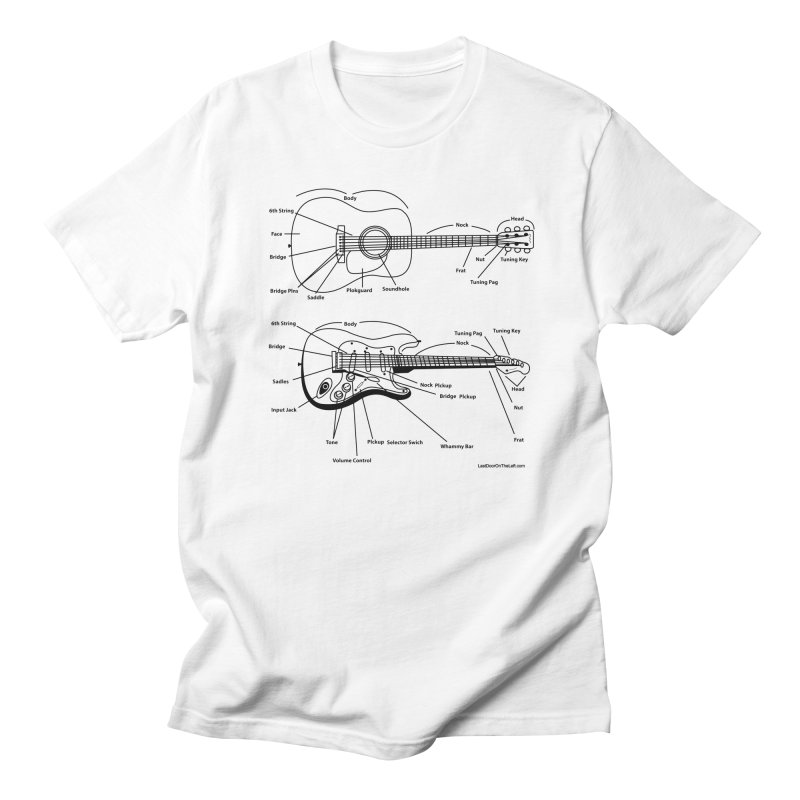 Know Your Guitars Men's T-Shirt by Last Door on the Left