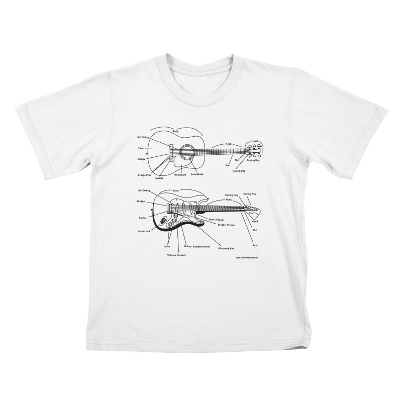 Know Your Guitars Kids T-Shirt by Last Door on the Left