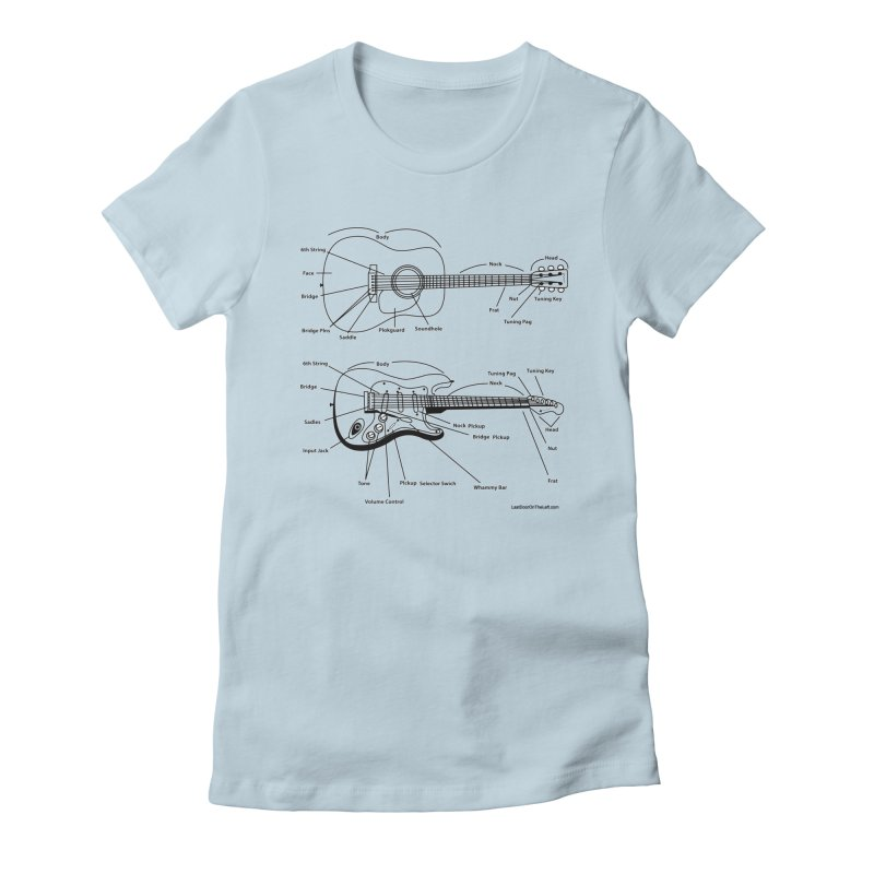 Know Your Guitars Women's T-Shirt by Last Door on the Left