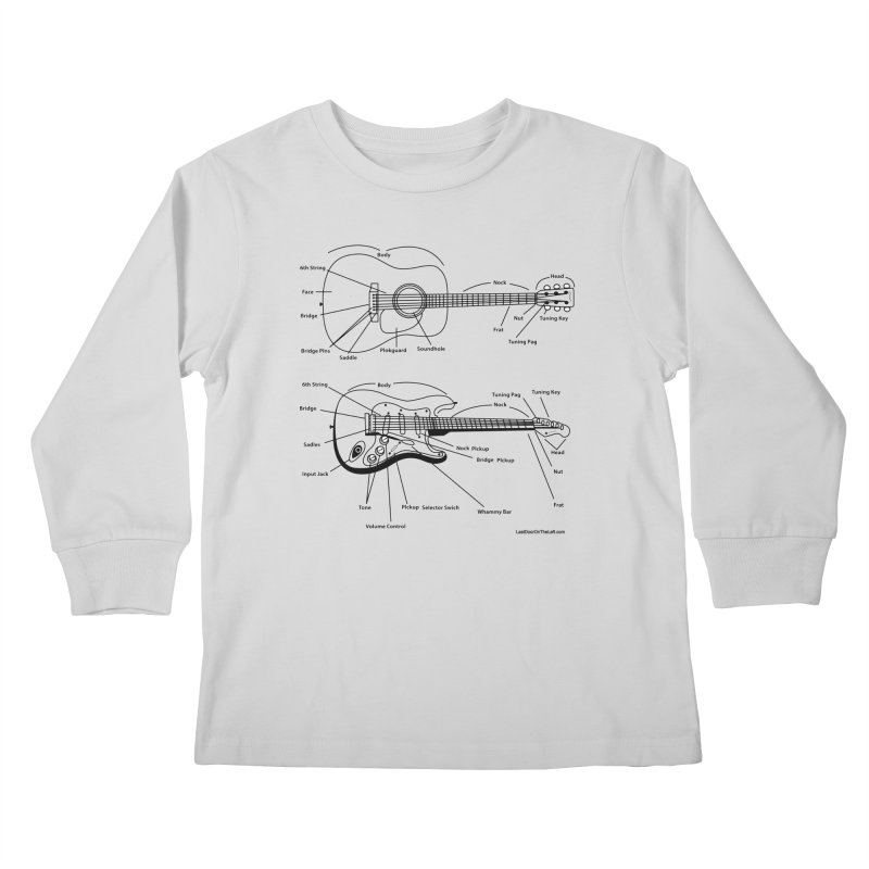 Know Your Guitars Kids Longsleeve T-Shirt by Last Door on the Left