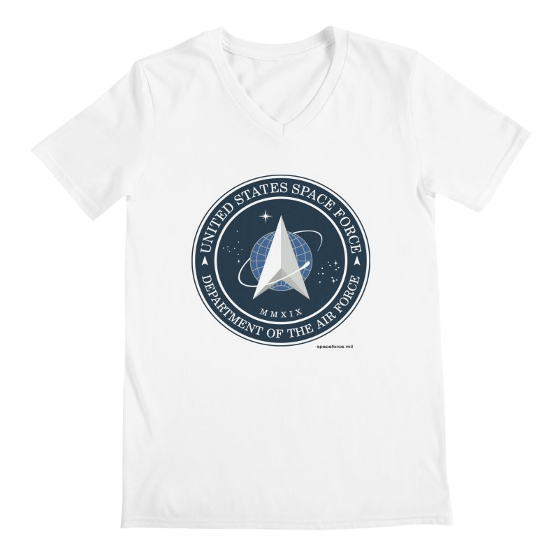 United States Space Force Men's V-Neck by Last Door on the Left