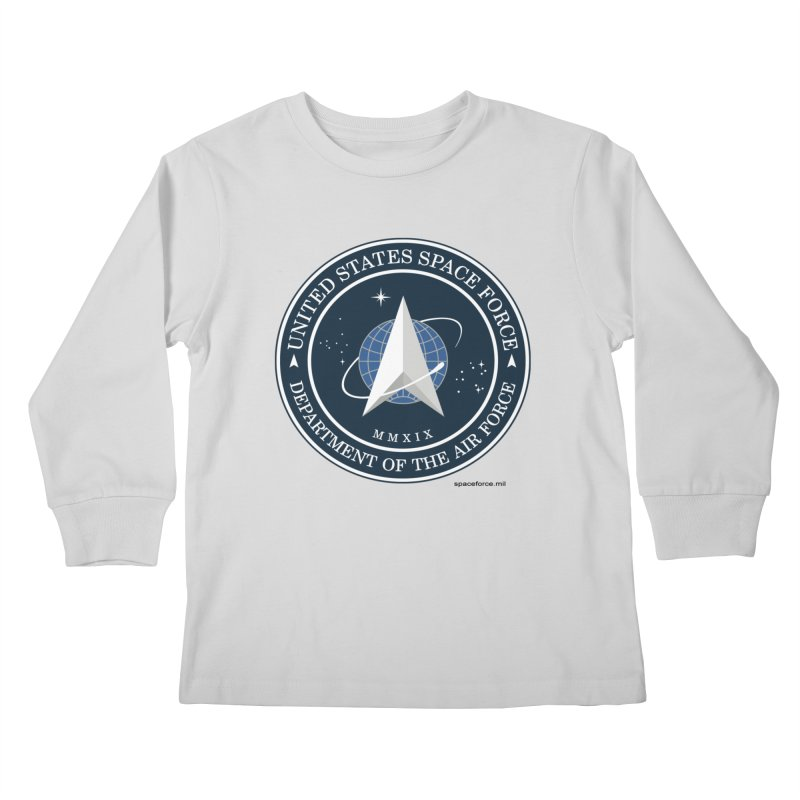 United States Space Force Kids Longsleeve T-Shirt by Last Door on the Left