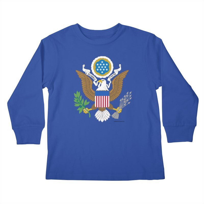 Great Seal of the United States Kids Longsleeve T-Shirt by Last Door on the Left