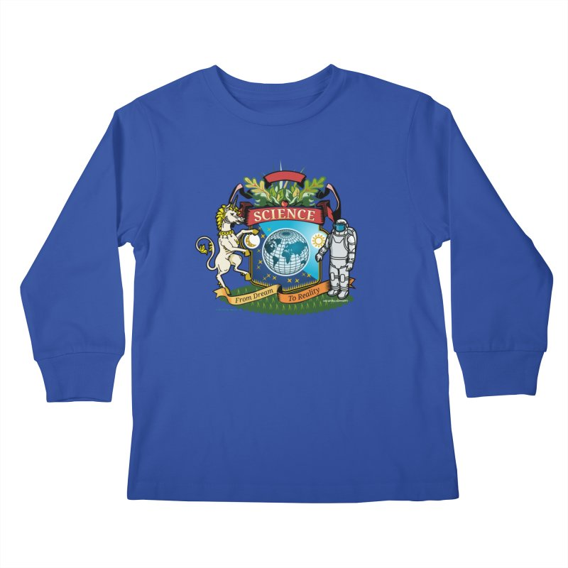 Science Coat of Arms Kids Longsleeve T-Shirt by Last Door on the Left